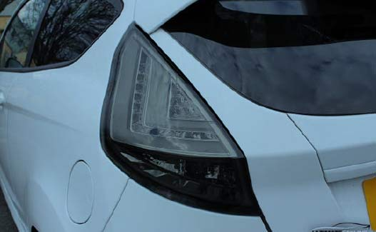Ford Fiesta Mk7 performance LED smoked rear lights fitting guide image 6