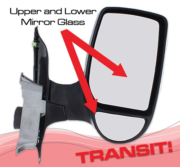 Ford Transit Upper and lower wing mirror glass