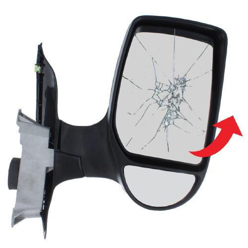 Tilt The Upper Mirror Glass Upwards