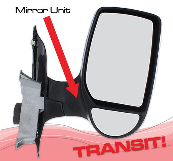 Ford Transit wing mirror unit