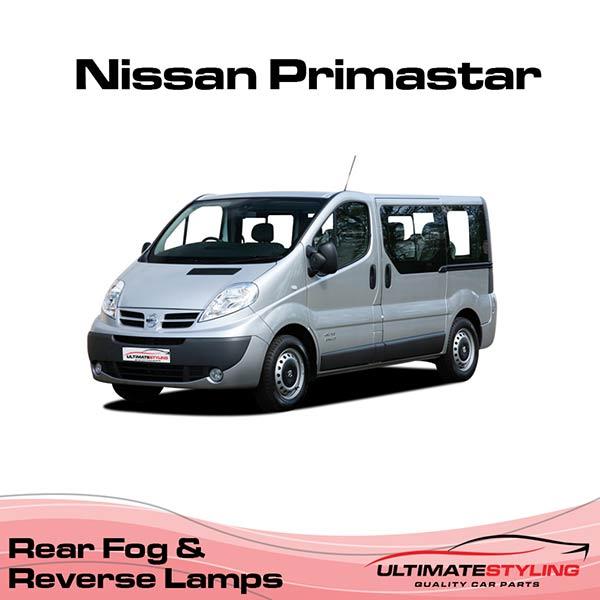 Nissan Primastar rear fog & reverse lamps