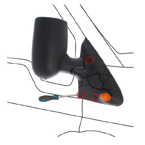 How to Replace a Ford Transit Wing Mirror, Step 1