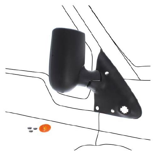 How to Replace a Ford Transit Wing Mirror, Step 4