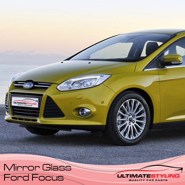 Fully road legal Ford Focus Wing Mirror glass for most models