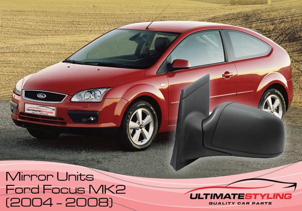 Replacement wing mirror covers for the Ford Focus MK2