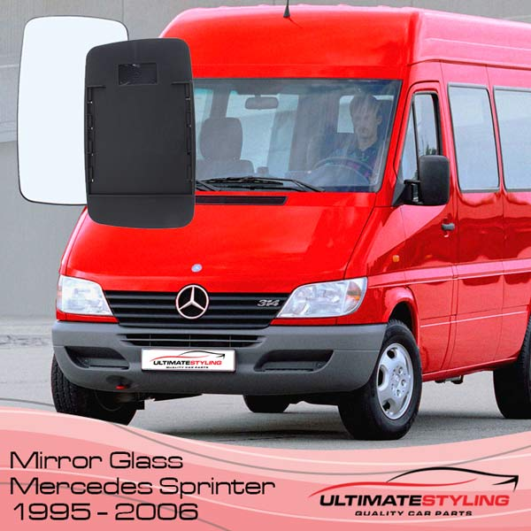 Wing Mirrors glass for your 1995 - 2006 Mercedes Sprinter van