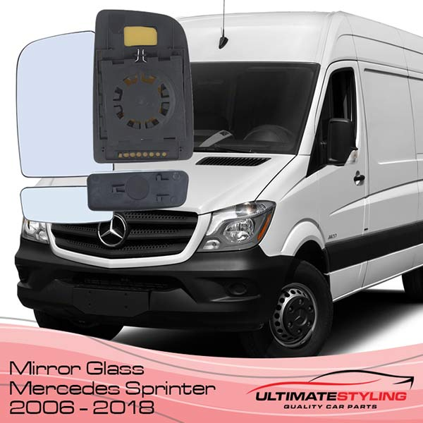 Wing Mirrors glass for your 2006 - 2018 Mercedes Sprinter van