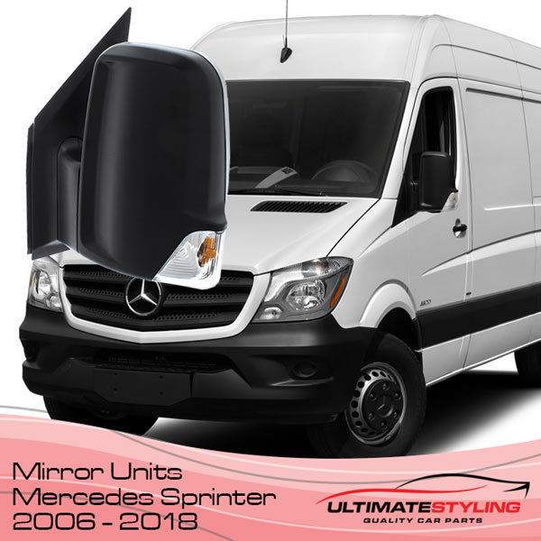 Wing Mirrors for your 2006 - 2018 Mercedes Sprinter van