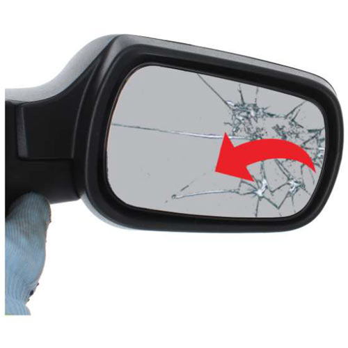 Ford Fiesta Mk6 wing mirror glass replacement step 1