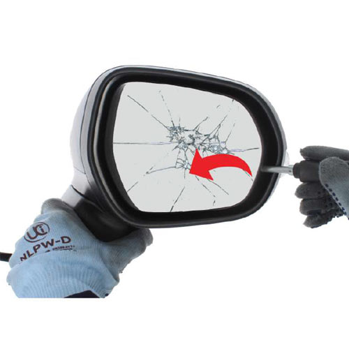 Ford Fiesta Mk 8  wing mirror glass replacement step 2