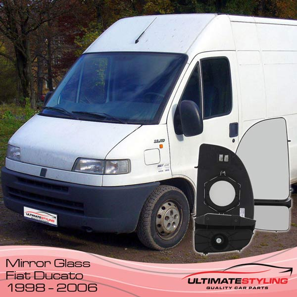 Fiat Ducato wing mirror glass, 1998 - 2006 models