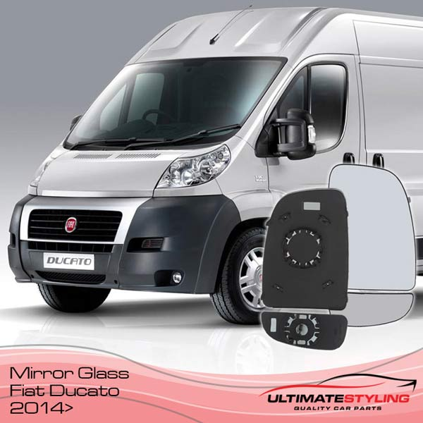 Fiat Ducato mirror glass replacement for 2014 onward models