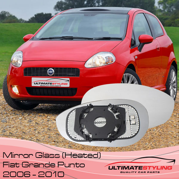 Fiat Grande Punto heated wing mirror glass