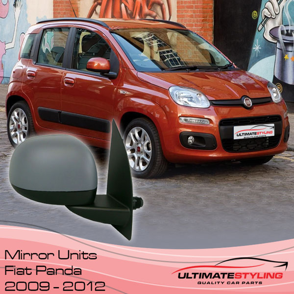 Fully road legal Wing Mirrors for most models of Fiat Panda