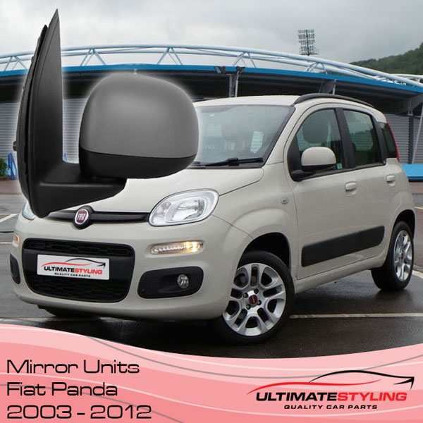 Replacement wing mirror covers for the Fiat Panda 2003 - 2012