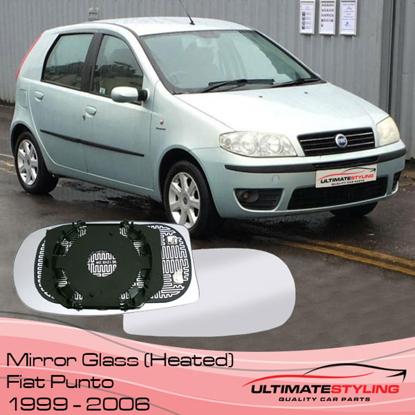 Fiat Punto Heated wing mirror glass