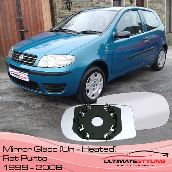 Fiat Punto non-heated wing mirror glass
