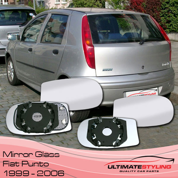 Fiat Punto wing mirror glass 1999-2006