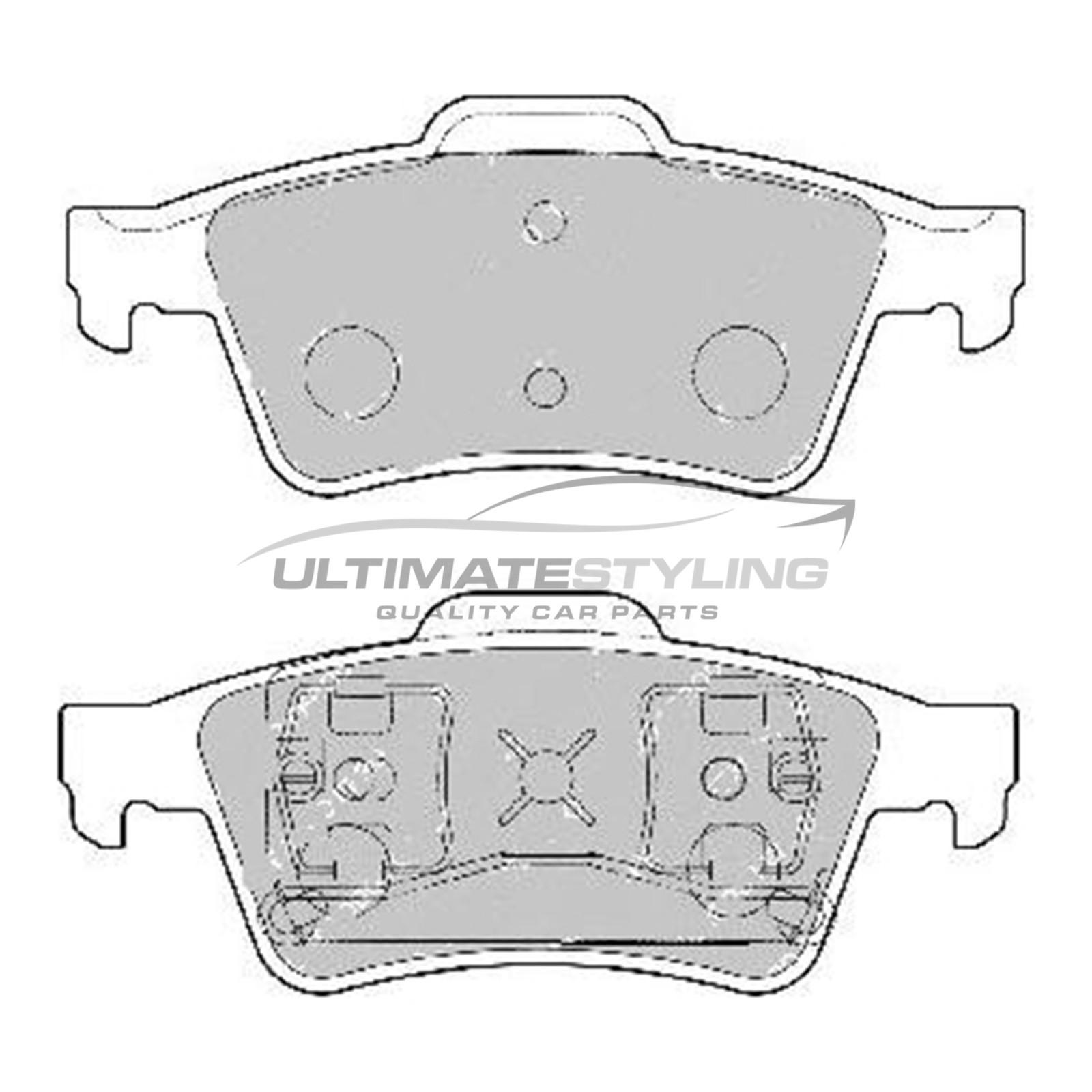 Nissan Primera, Renault Espace / Laguna / Megane / Vel Satis, Saab 9-3, Vauxhall Signum / Vectra Brake Pads - Rear