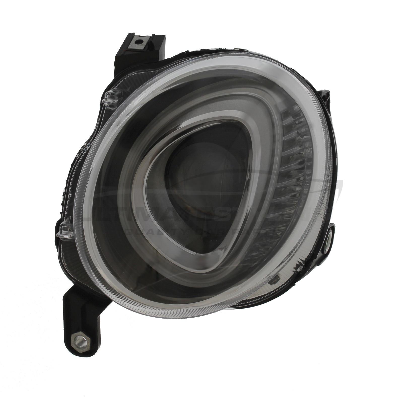 Abarth 500 / 595 / 695, Fiat 500 Headlight / Headlamp - Dipped Beam - Drivers Side (RH) - Halogen