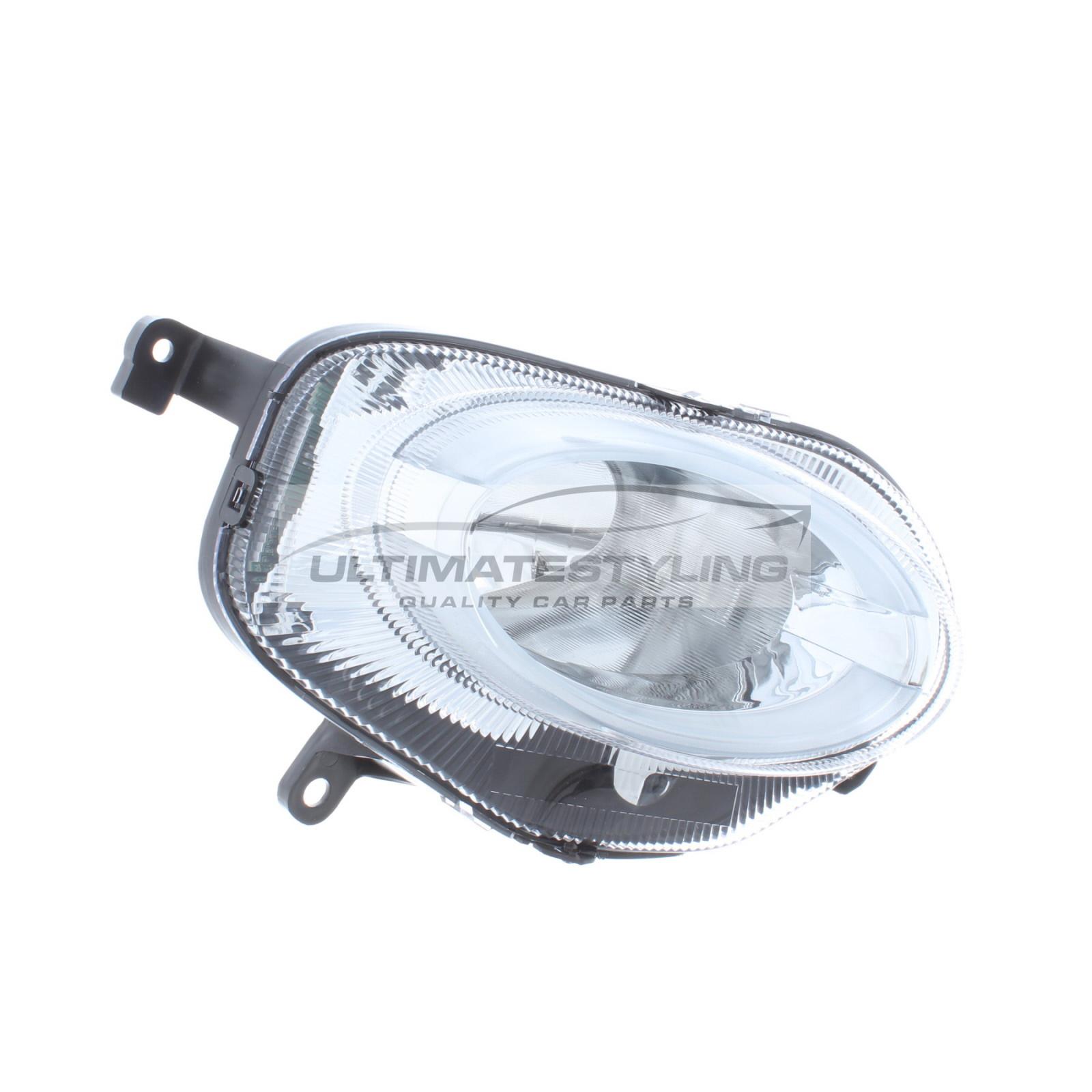 Abarth 500 / 595 / 695, Fiat 500 Headlight / Headlamp - Drivers Side (RH) - Halogen With LED Daytime Running Lamp