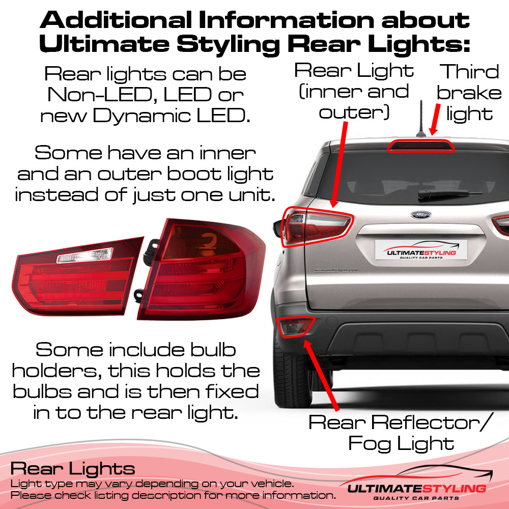 Audi A3 / RS3 / S3 Rear Light / Tail Light - Drivers Side (RH), Rear Outer (Wing) - LED