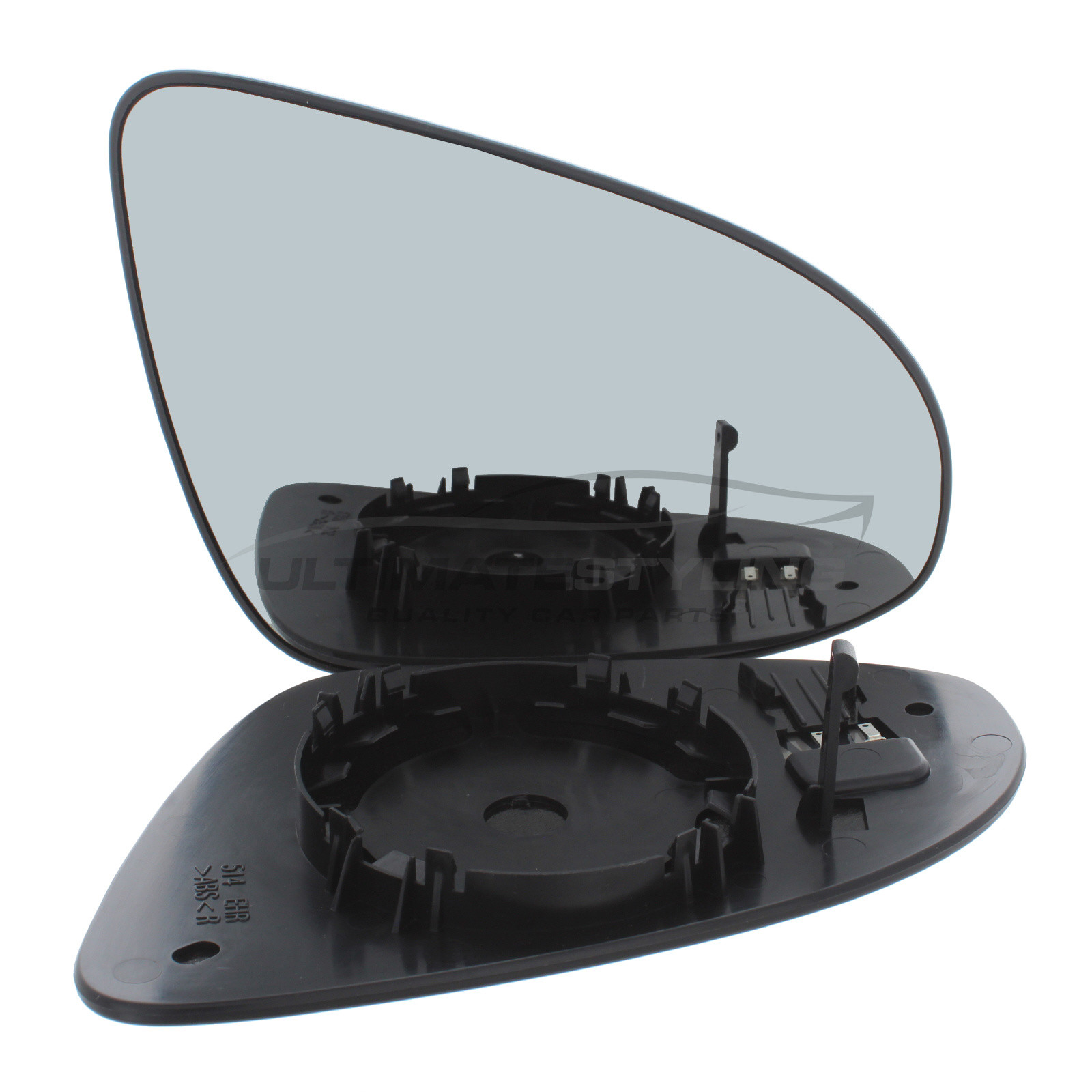RH Citroen C1 2014 Onwards Convex Drivers Side wing mirror glass with backing plate
