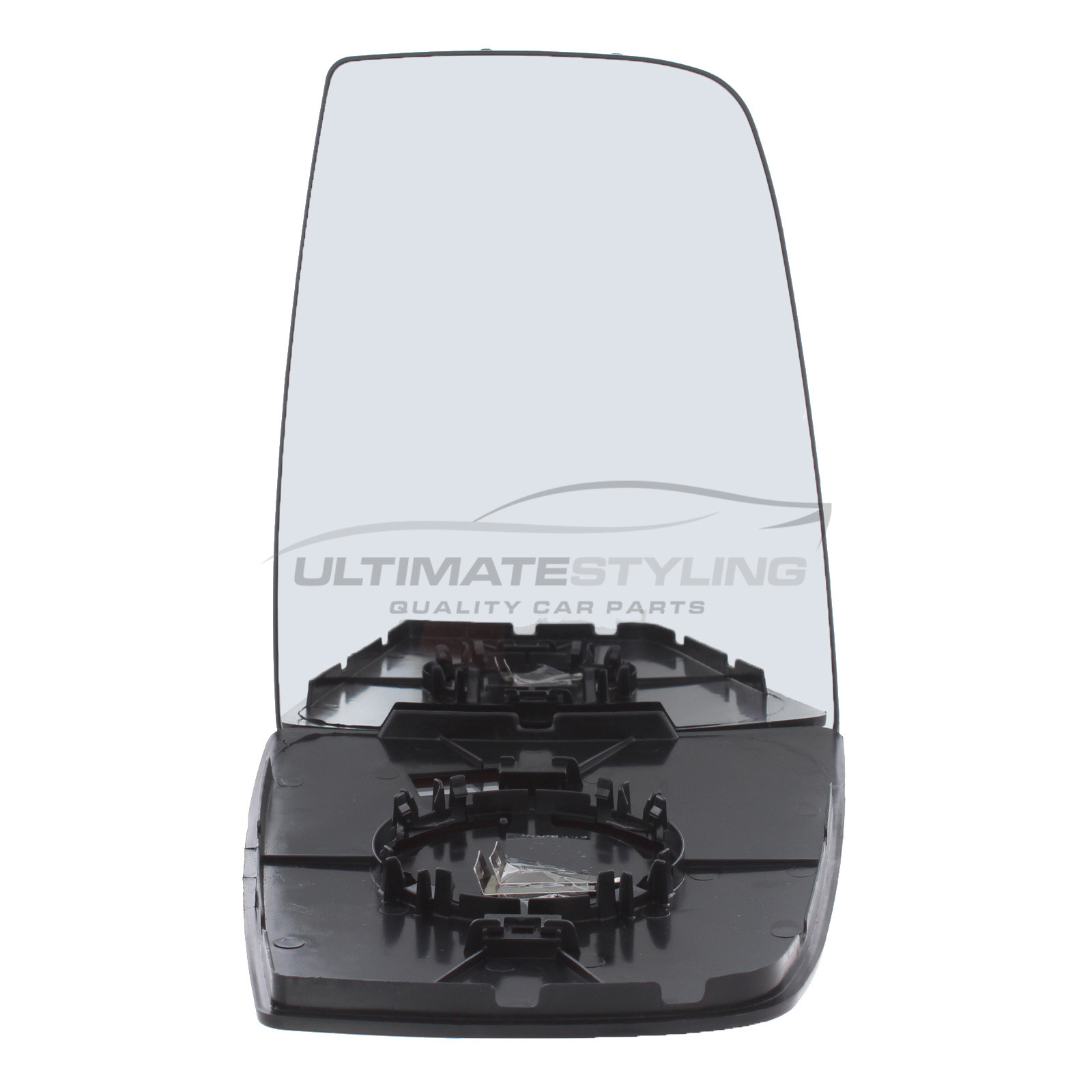 Ultimate Styling Aftermarket Replacement Heated Convex Chrome Wing Mirror Glass Passenger Side LH