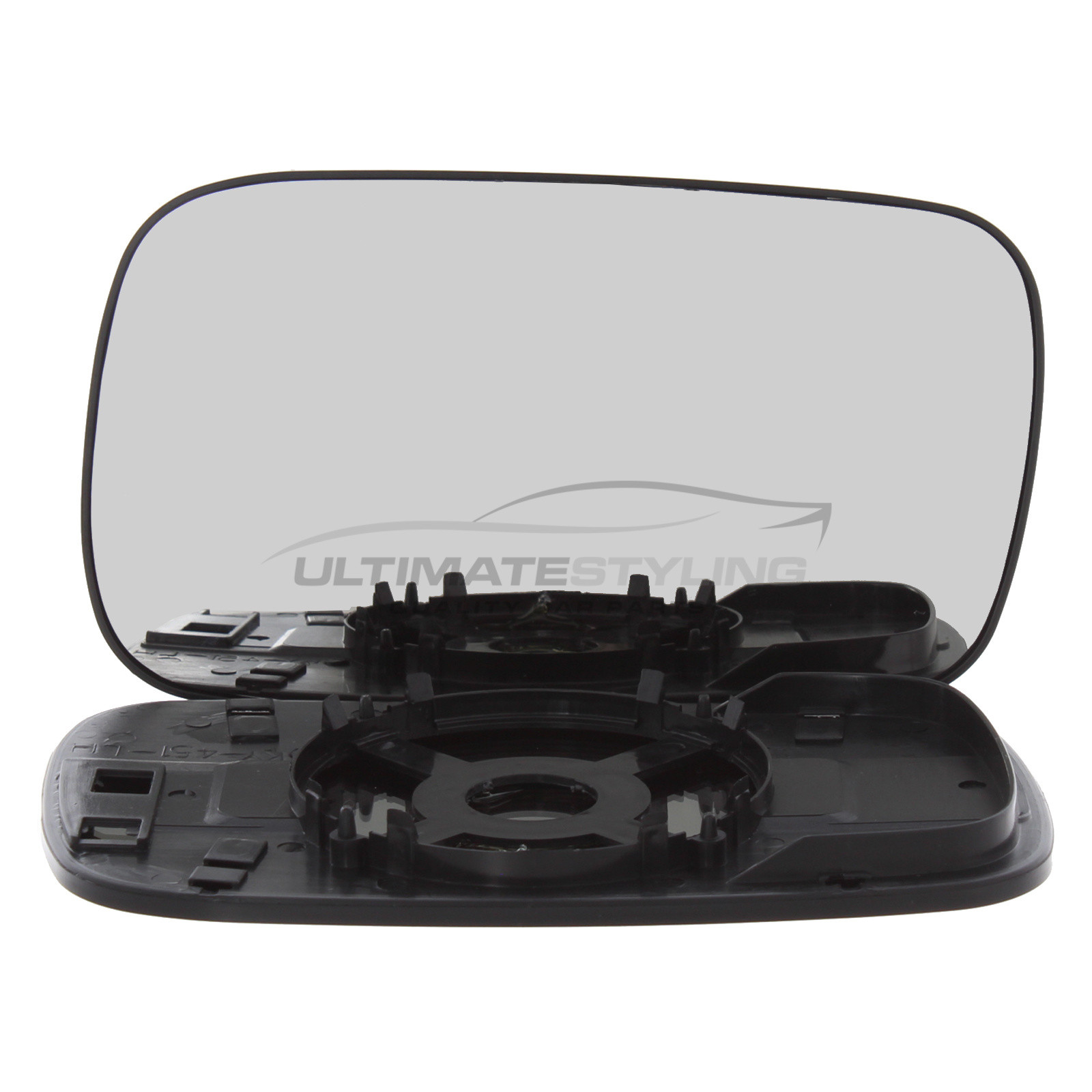 Ultimate Styling Aftermarket Replacement Non-Heated Convex Chrome Wing Mirror Glass Passenger Side LH