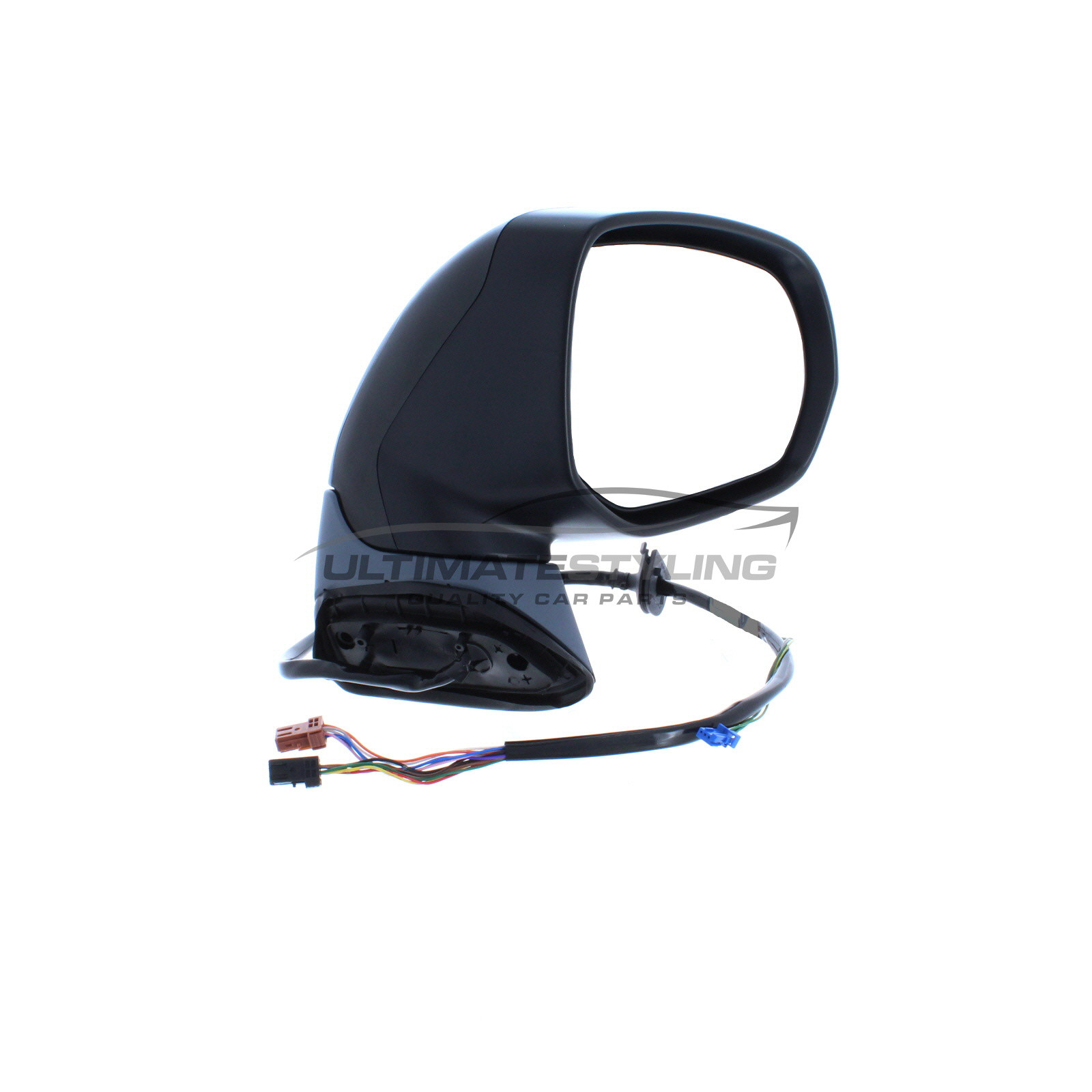 Ultimate Styling Replacement Electric None Power Folding Wing Door Mirror With Heated Glass With Paintable LH Black Mirror Cover Cap Side Of Product Passenger Side