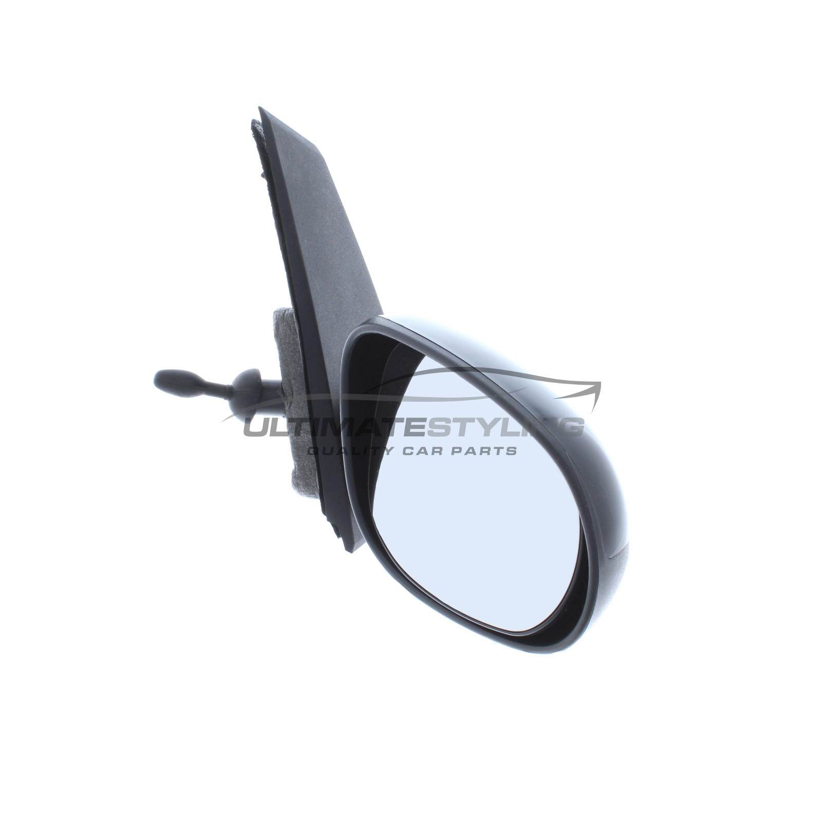 Ford Ka Wing Mirror Door Mirror Drivers Side Rh Cable Adjustment Non Heated Glass Black