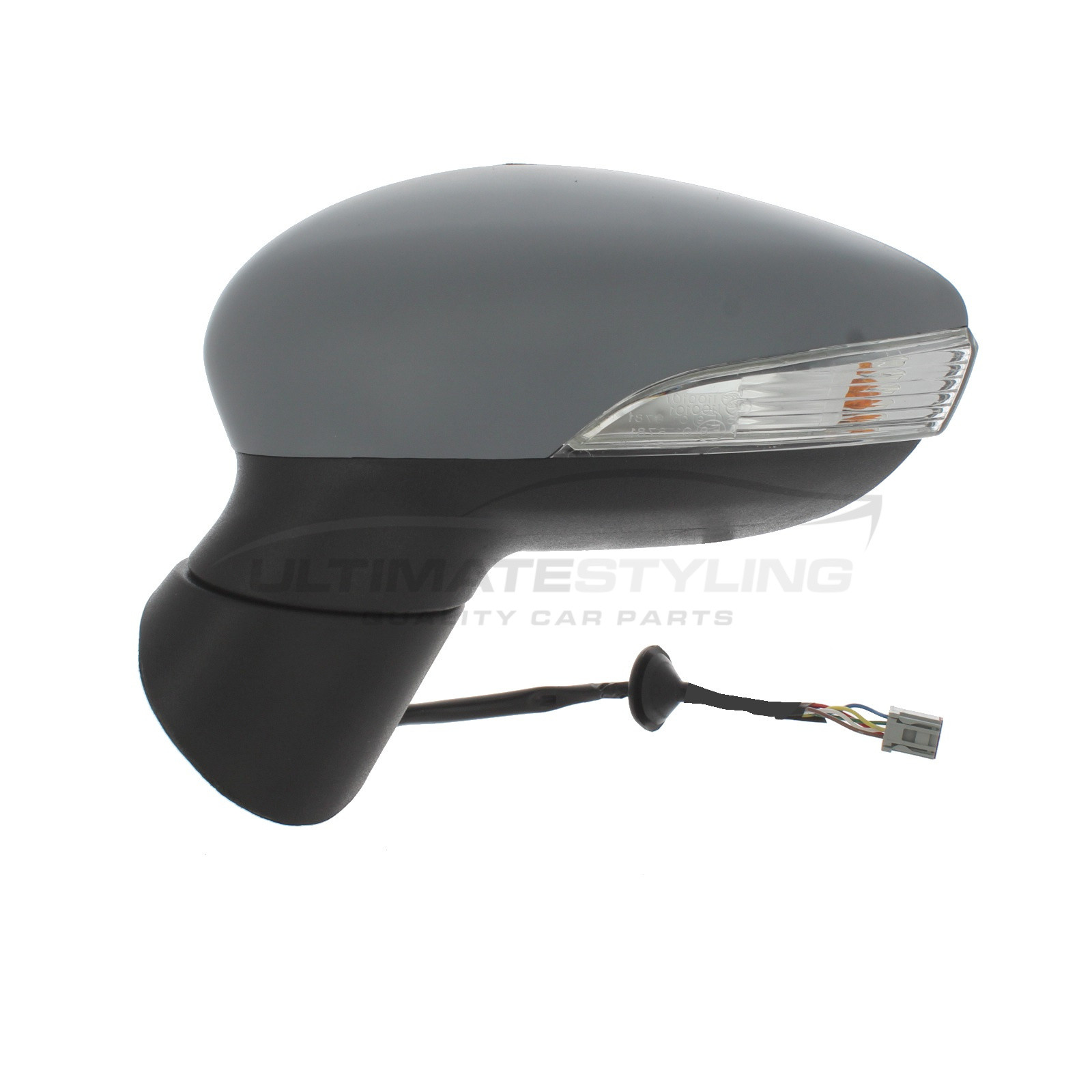 HEATED INDICATOR PRIMED FOR PEUGEOT 208 ELECTRIC WING MIRROR UNIT LEFT HAND