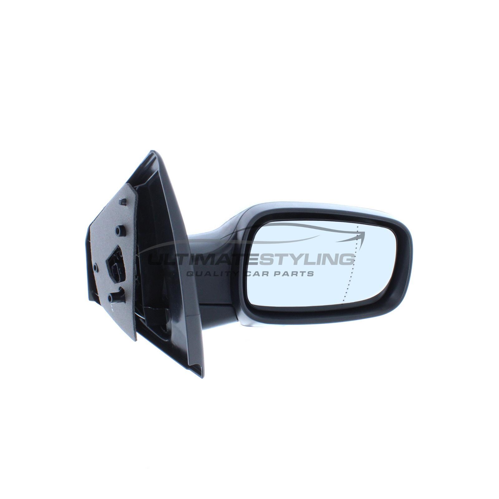 RIGHT electric heated black wing door mirror RENAULT MEGANE II temp sensor
