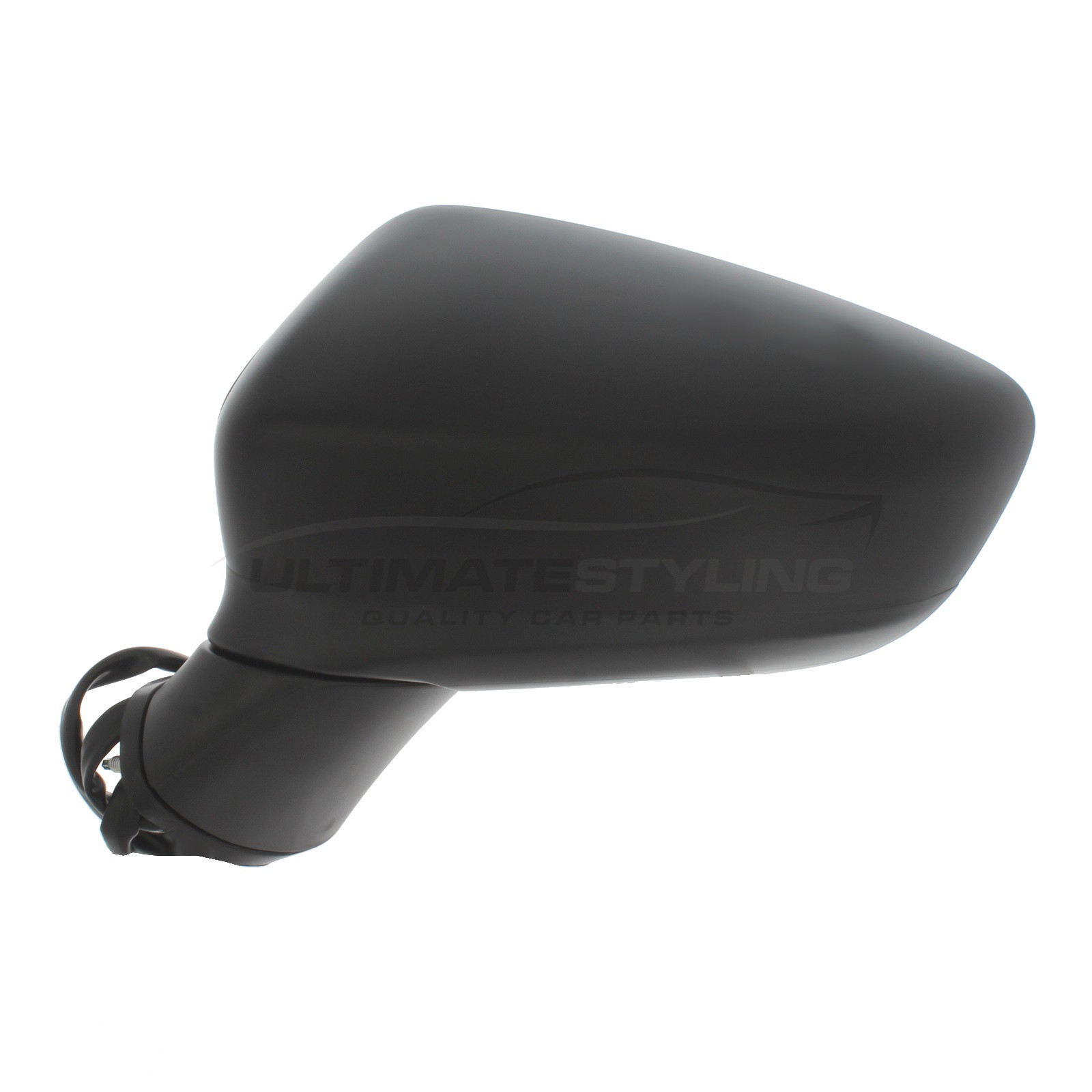 Black For Passenger Side Ultimate Styling Aftermarket Replacement Wing Mirror Cover Cap Colour Of Cover Paintable Left Hand Side LH