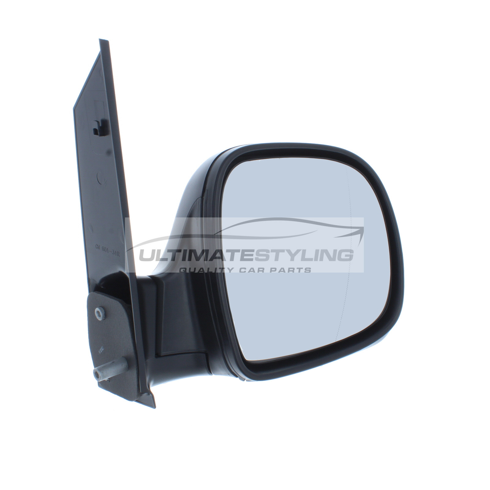Ultimate Styling Aftermarket Replacement Wing Mirror Cover Cap Colour Of Cover Black RH Right Hand Side Textured For Drivers Side
