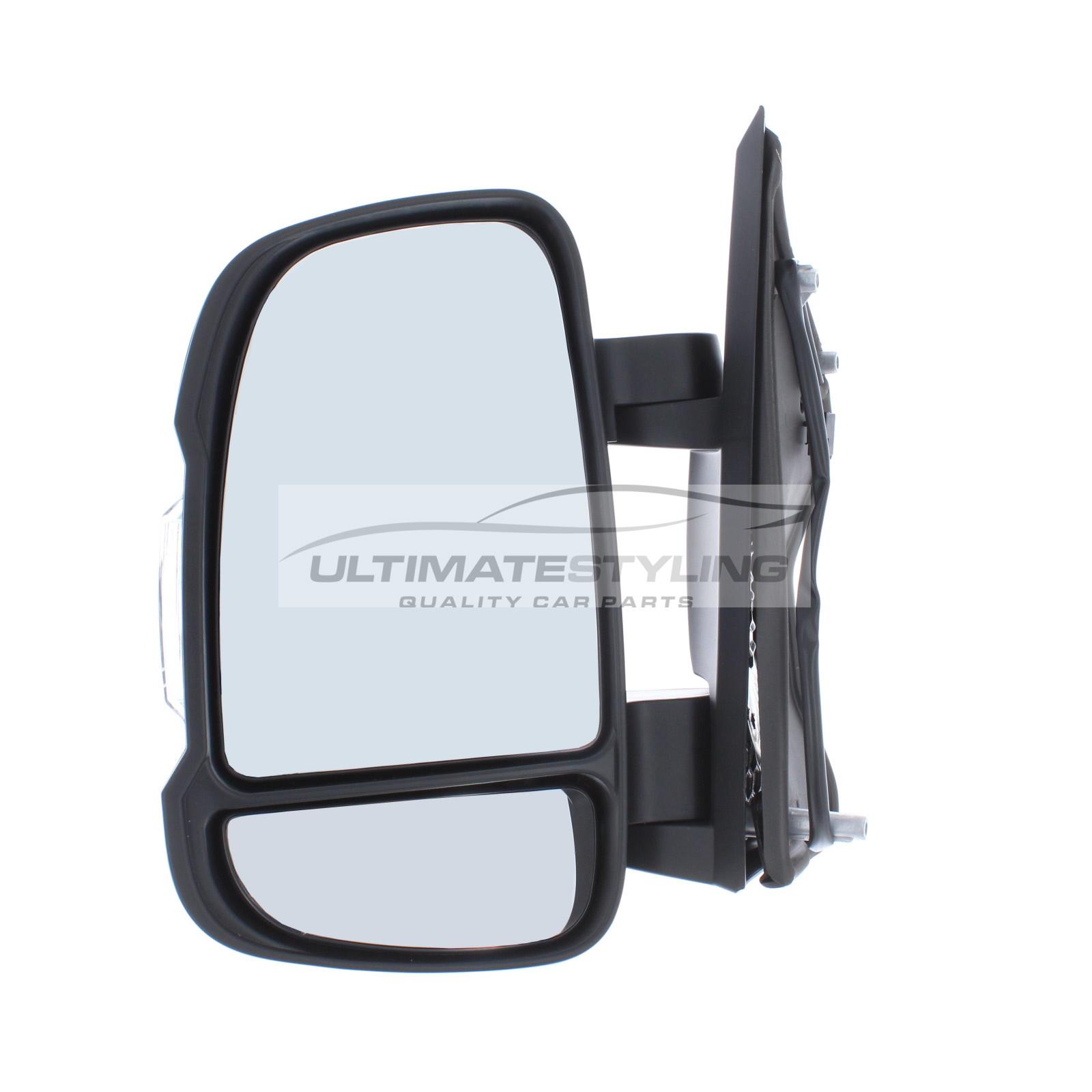 /> Short Arm O//S RIGHT 2006 Drivers Door Mirror Cover Black Citroen Relay
