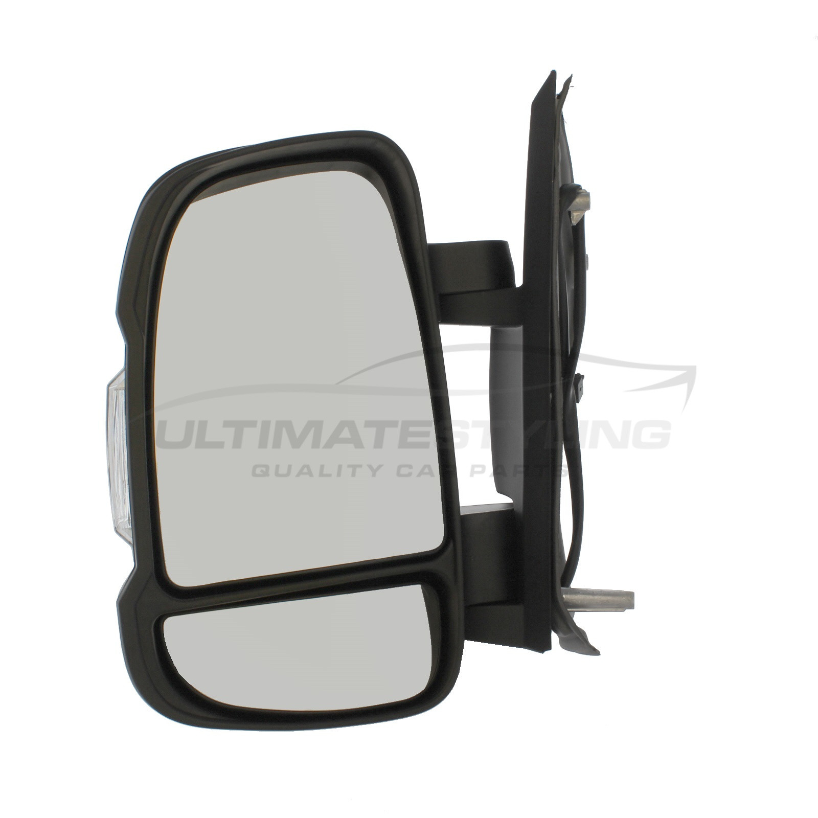 CITROEN RELAY 2006 SHORT ARM ELECTRIC WING MIRROR HEATED BLACK COVER INDICATOR DRIVERS SIDE