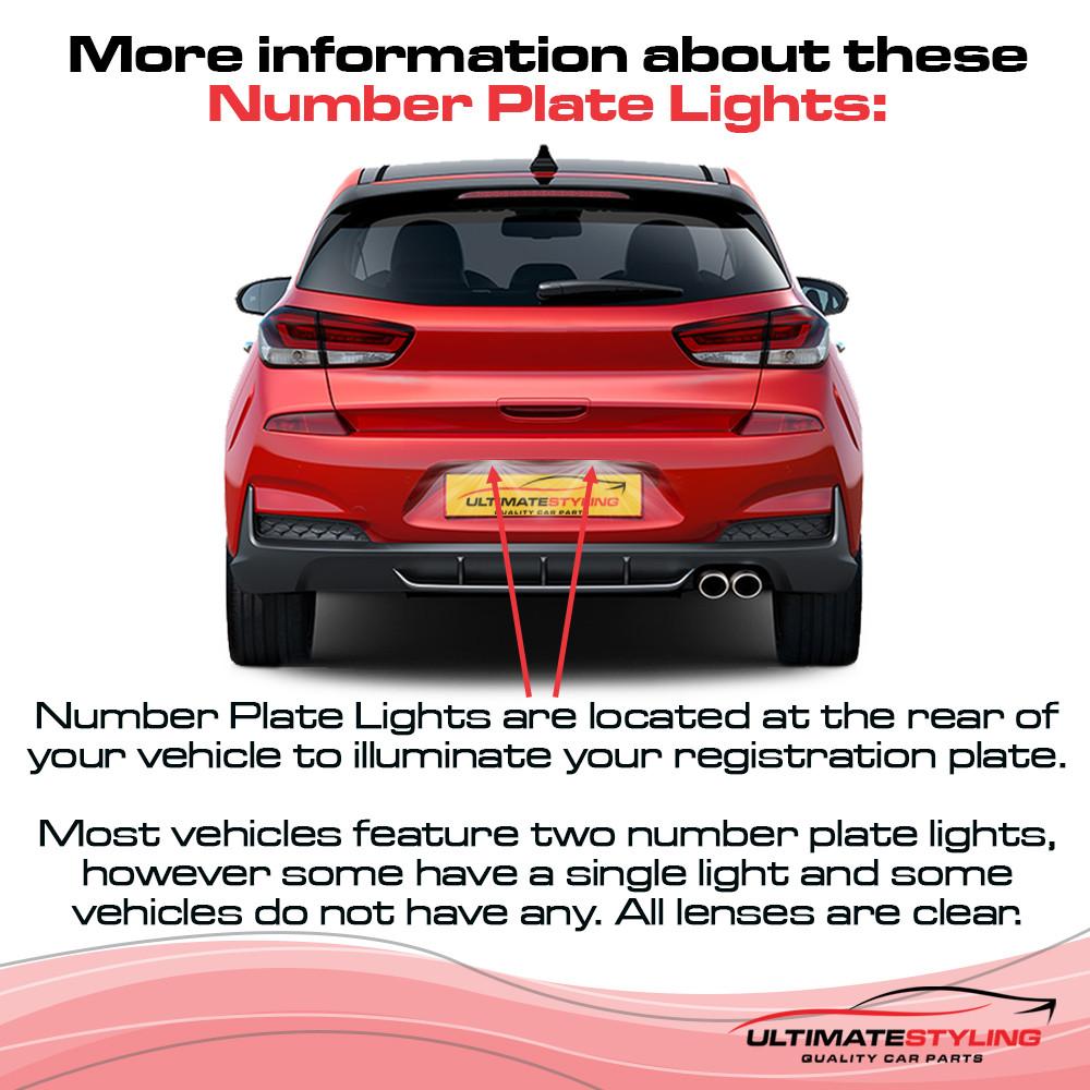 Volvo C70 / S40 / S60 / S80 / V50 / V60 / V70 / XC60 / XC70 / XC90 Rear Number Plate Light - Universal (LH or RH)