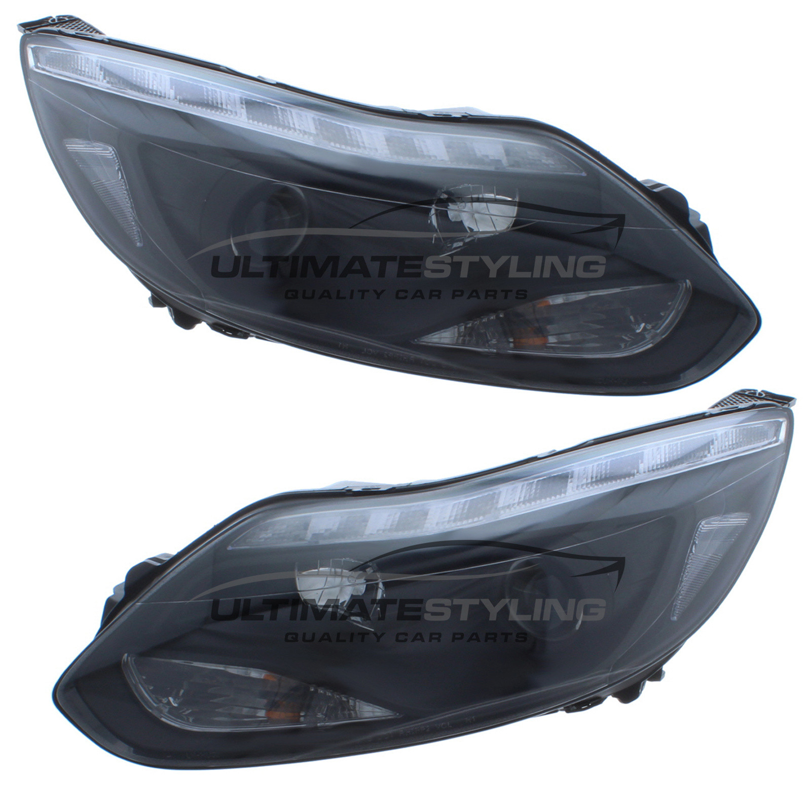 Ford Focus Custom Performance Headlights Projector Type Led Daytime Running Lights Drl Halogen