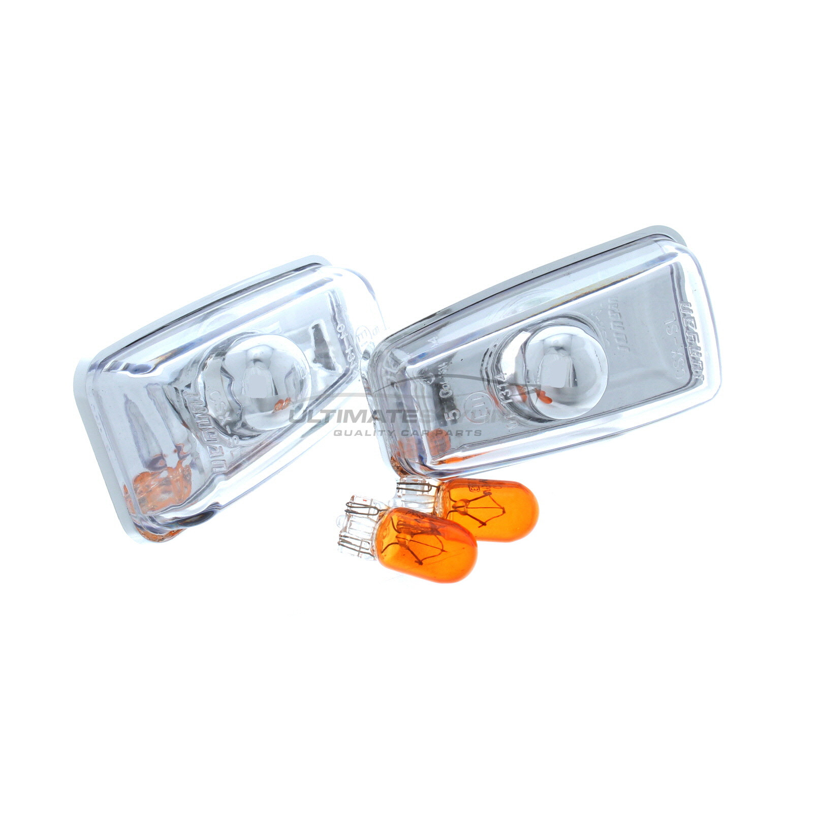 CRYSTAL SMOKED SIDE REPEATERS 1 PAIR