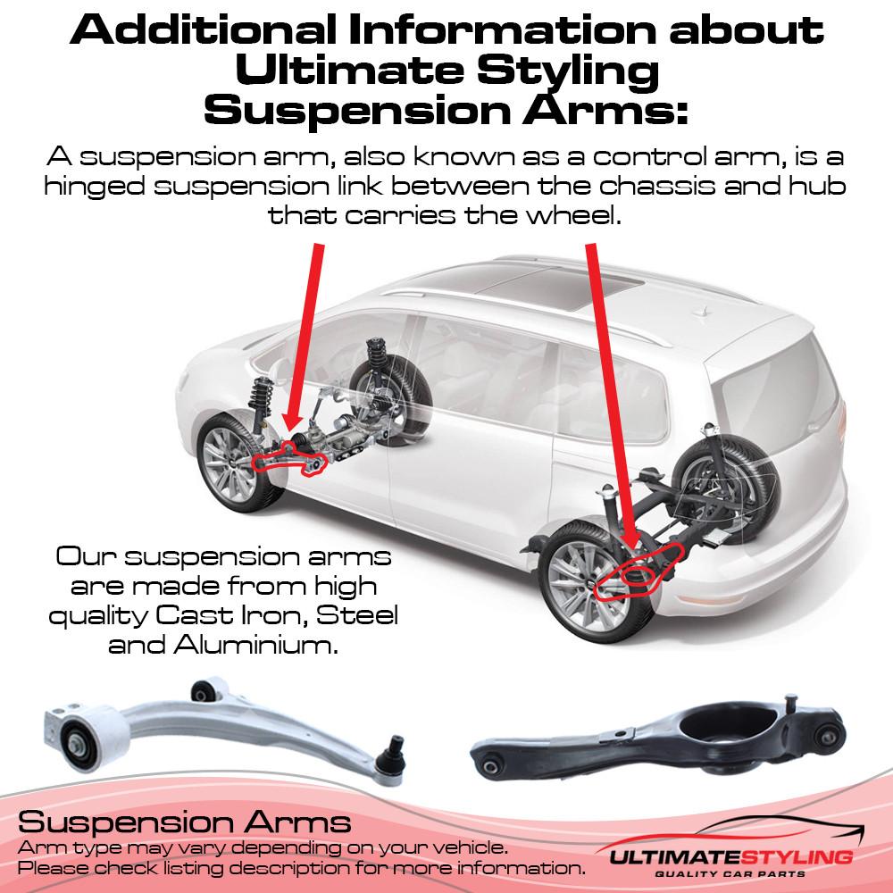 Fiat Grande Punto 2006-2011 / Punto Evo 2009-2012 / Punto 2012-2018 / Alfa Romeo MiTo 2009> / Citroen Nemo / Peugeot Bipper / Fiat Fiorino / Qubo 2008> Suspension Arm - Front Lower (RH)