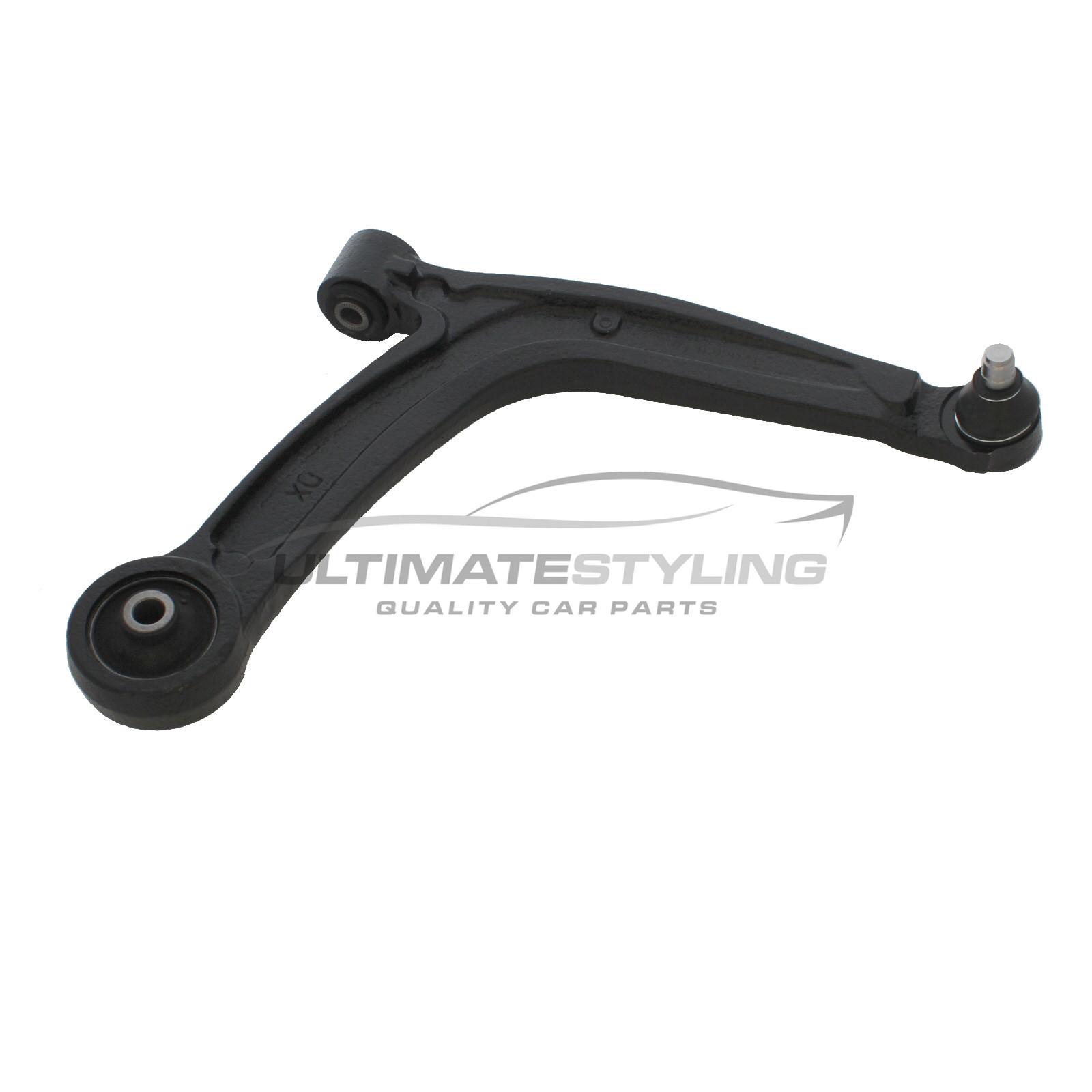 ONE FRONT LOWER WISHBONE SUSPENSION ARM   LH OR RH FIAT 500  1.2 1.3 1.4 08