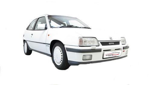 Vauxhall Astra E 1.3 (75bhp) Petrol (8v) FWD (1297cc) - MK 2 (E) (1984-1989) Hatchback