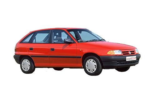 Vauxhall Astra F 1.4 MPi (81bhp) Petrol (8v) FWD (1389cc) - MK 3 (F) (1991-1996) Saloon