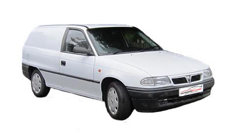 Vauxhall Astra F 1.6 (74bhp) Petrol (8v) FWD (1598cc) - MK 3 (F) (1996-1998) Van