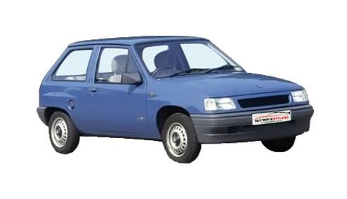 Vauxhall Nova 1.4 (72bhp) Petrol (8v) FWD (1389cc) - (1989-1992) Hatchback